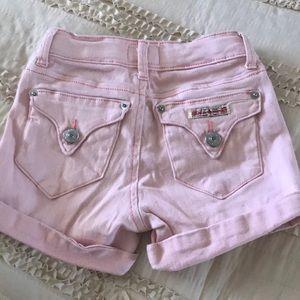 Girls pink Hudson shorts size 7
